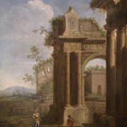 An architectural capriccio of Roman ruins with figures Viviano Codazzi