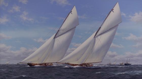 Vigilant and Valkyrie, America's Cup 1893