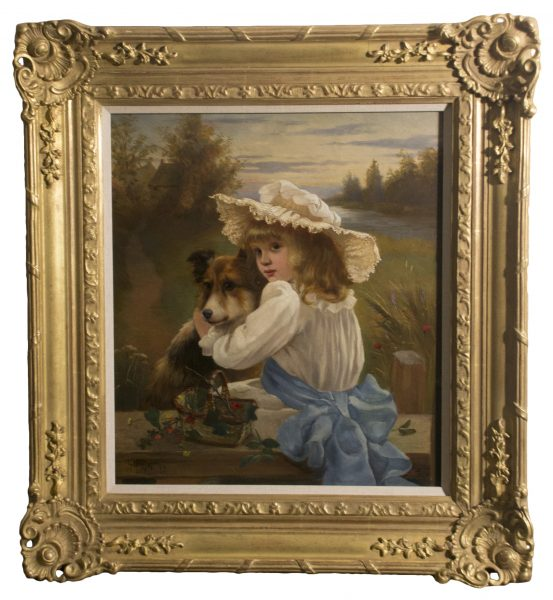 Girl with Collie