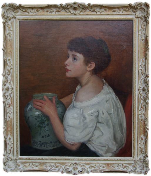 Girl with vase