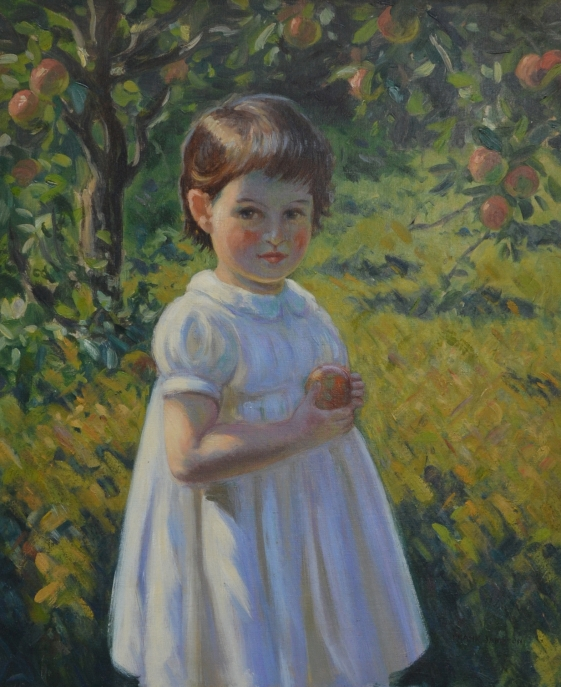 Portrait of a Young Girl in an Orchard