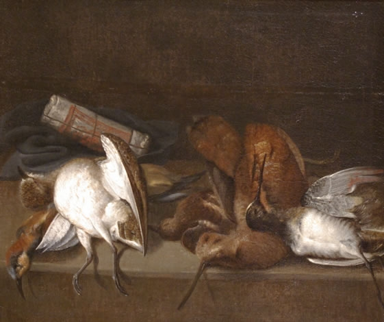 Still of Life of Dead Game Birds on a Ledge