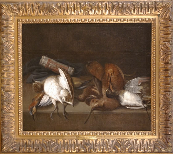 Still of Life of Dead Game Birds on a Ledge2