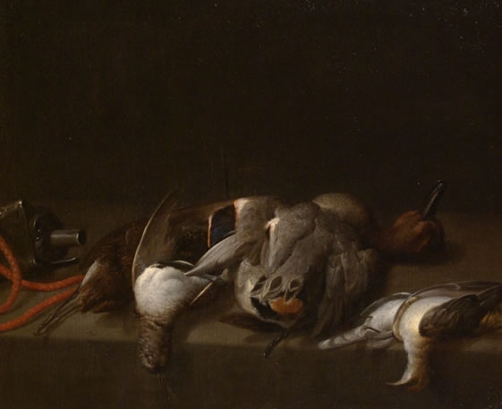 Still of Life of Dead Game Birds on a Ledge3