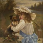 Young Girl with Collie