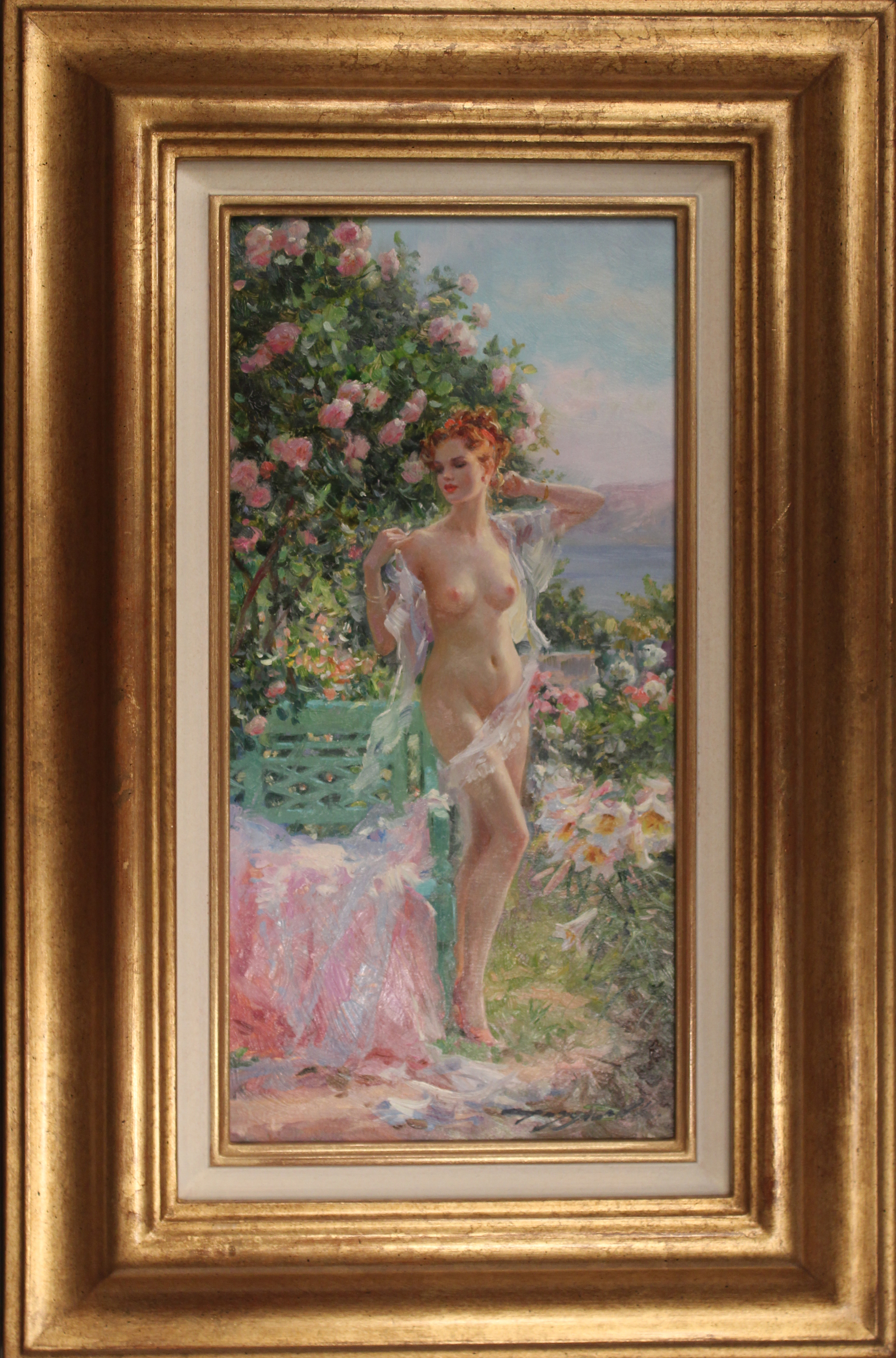 Nude in the Flower Garden