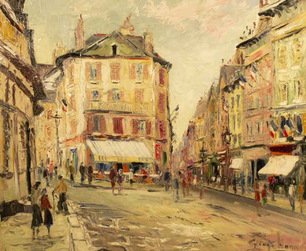 Figures in a Parisian Square
