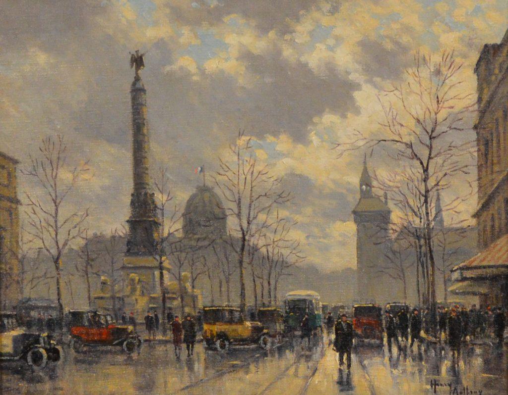 LA PLACE DU CHATELET, PARIS ~ HENRI MALFROY