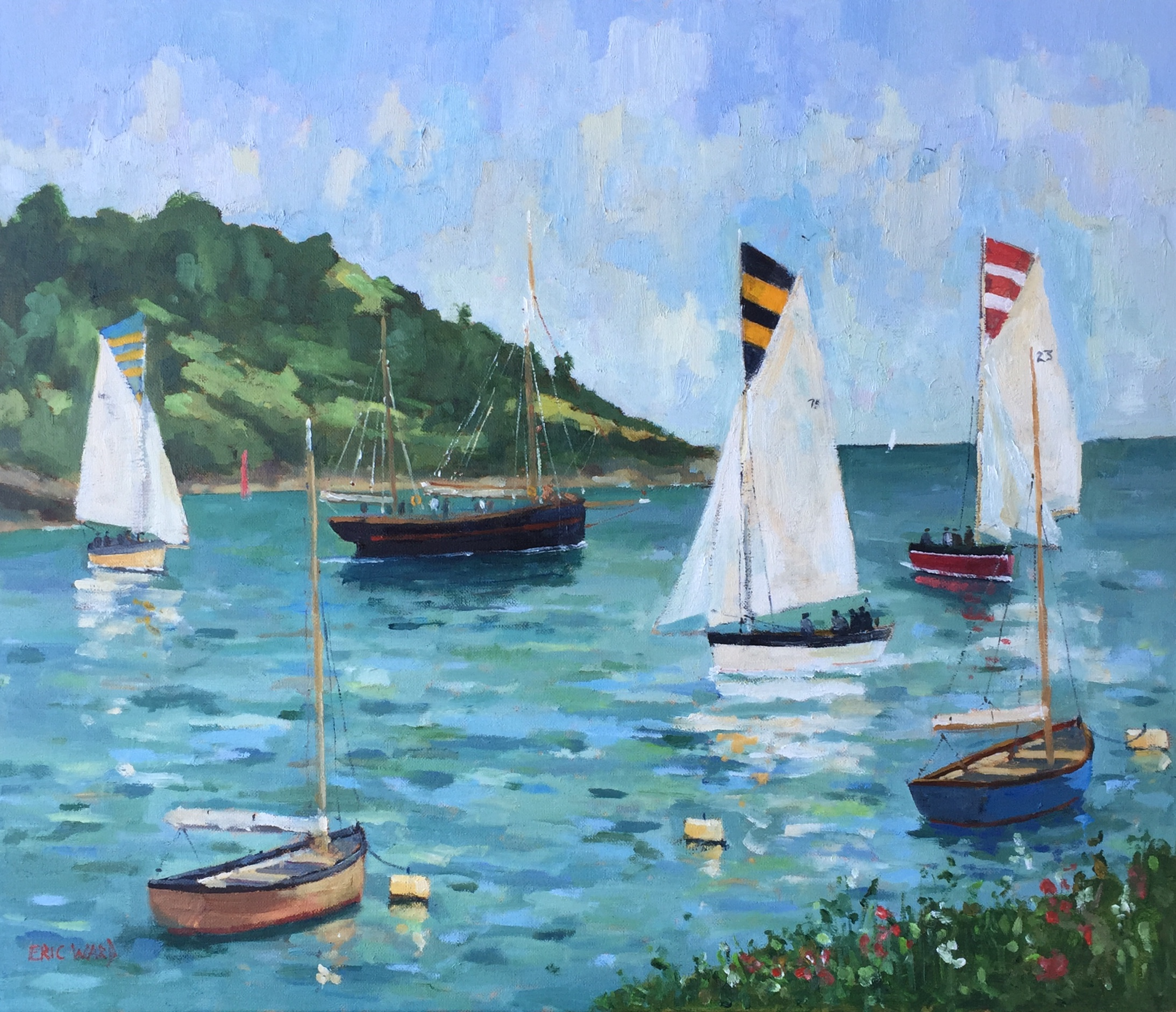 Sailing at Fowey, South Cornwall