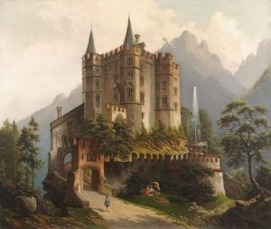 A Bavarian Castle in the Mountains